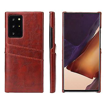 For Samsung Galaxy Note 20 Case Deluxe Protective Cover Brown