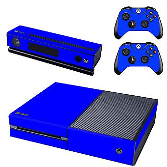ReyTID Console Skin / Adesivo + 2 x Controller Decals & Kinect Wrap para Microsoft Xbox One - Full Set - Blue