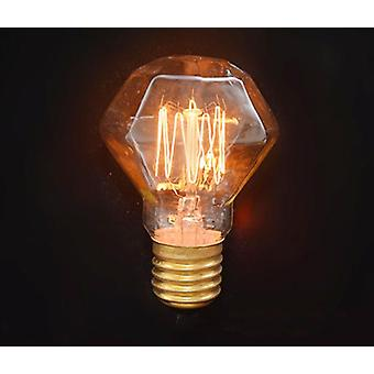 40w E27 220v Vintage Edison Light Bulb - Glass Diamond For Bar, Coffee And