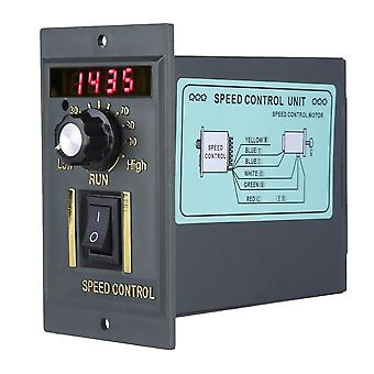 Ac 220v 50hz motorhastighetsregulator 400w digital justerbar stepless plc-kontroller 0-1450rpm regulator