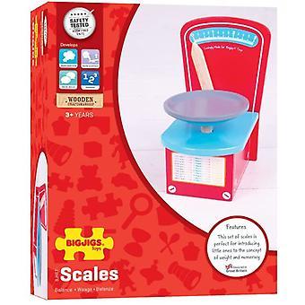 Bigjigs Hračky Dřevěné váhy pro Play Kitchen nebo Play Shop - Pretend Play