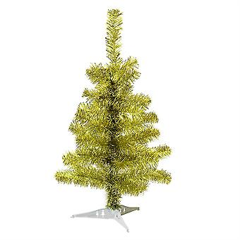 2ft (60cm) Artificial Pine Christmas Tree With Stand - Gold