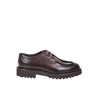 Doucal's Du2737philuf087tm23 Men's Brown Leather Lace-up Shoes