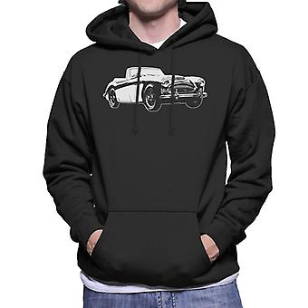Austin Healey 3000 British Motor Heritage Men's Hooded Sweatshirt
