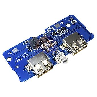 Dc 5v/2a Power Bank Charging. Circuit Module Board Boost Power Supply Module With Dual Usb Output 1a Input