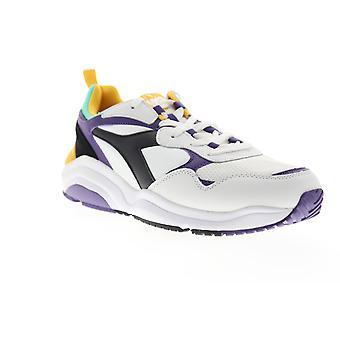 Diadora Whizz Run  Mens White Leather Lifestyle Sneakers Shoes