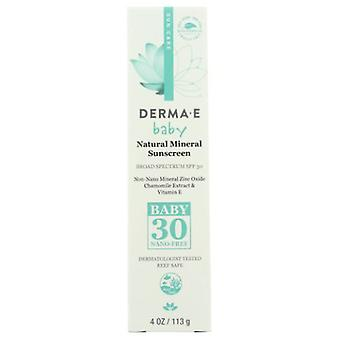 Derma e FPS 30 Baby Natural Mineral Sunscreen, 4 Oz