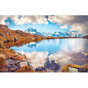Vægmaleri Lac Blanc Sø