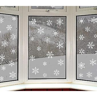 White Snowflake Sticker Glass Window Decoration Room - Christmas Wall Stickers