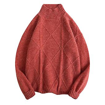 Allthemen Men's Sweater Casual Solid 6 Colors Round Neck Winter Warm Thick