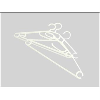 Russel Coat Hanger Plastic x 3 Witte PT1227