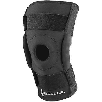 Mueller Hinged Wraparound Knee Support Brace - Black