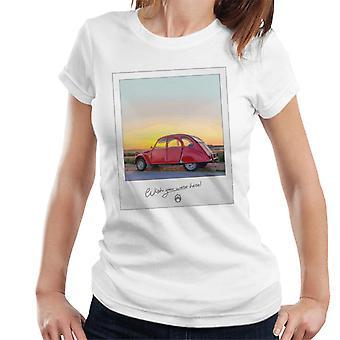Citro?n 2CV Wish You Were Here Photo For Light Women's T-Shirt