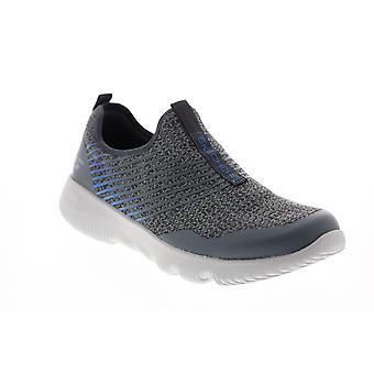 Skechers Go Run Focus Raptor  Mens Gray Canvas Lifestyle Sneakers Shoes