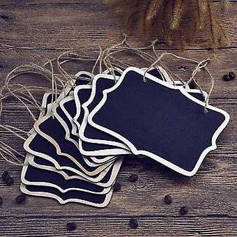 Mini Chalkboard Place Cards Hanging Blackboard, Double Sided, Wedding Party