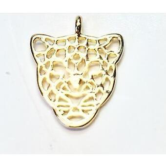 20stk 12 * 15mm Flat Leopard hoved halskæde / ørering armbånd smykker