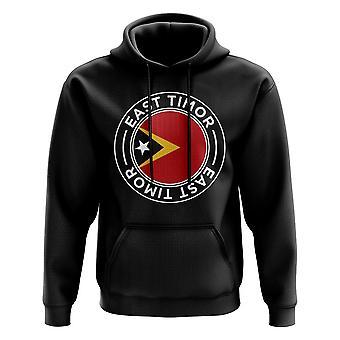 Øst-Timor Fotball Badge Hettegenser (Svart)