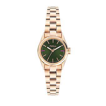 Furla R4253101506 Rose Gold Tone Green Dial Watch