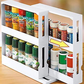 Rack organizador de especiarias de cozinha multifunção