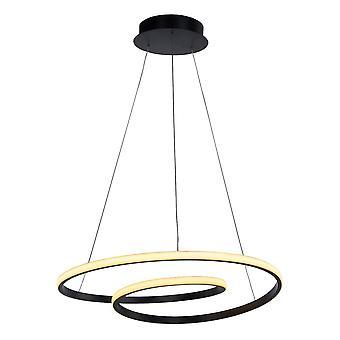 Italux Capita - Moderno pendente appeso a LED nero, bianco caldo 3000K 2896lm