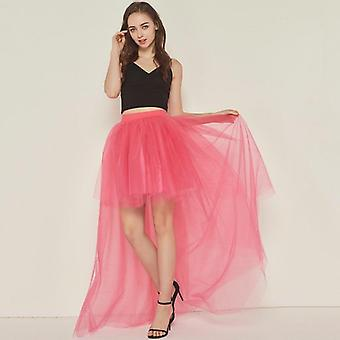 High Waist Irregular Tulle Skirt New Fashion Long Gown For Wedding Woman