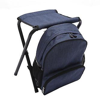 Mørkeblå OxfordCloth SteelPipe Multifunktion aftagelig rygsæk klapstol