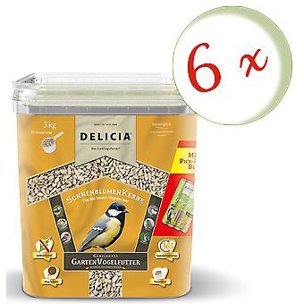 Sparset : 6 x FRUNOL DELICIA® Delicia® Graines de tournesol, 3 kg