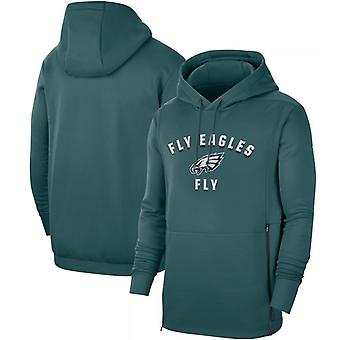 Philadelphia Eagles Men's Sideline Local Performance Pullover Hoodie Top WYX019