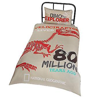 National Geographic Raptor Fossils Reversible Duvet Set