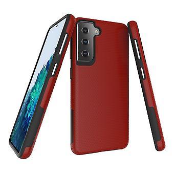 Samsung Galaxy S21 -kotelon panssarisuoja vahva kansi punainen