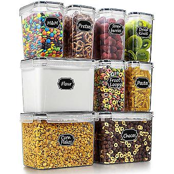 Wildone Food Storage Containers Set of 9 - Airtight Cereal & Dry Food Storage Containers
