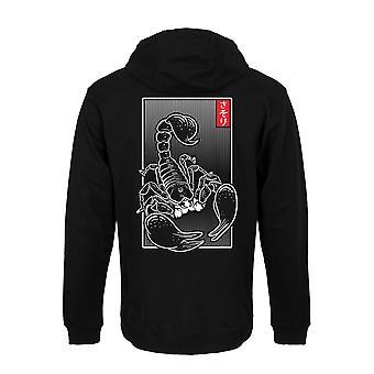 Unorthodox Collective Mens Oriental Scorpion Full Zip Hoodie