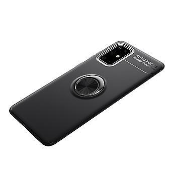 Samsung Galaxy S20 FE TPU Shell z pierścieniem palca - czarny