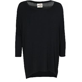 A Postcard from Brighton Flirty Black Oversized Top