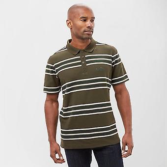 Peter Storm Men's Short Sleeve Casual Striped Polo Shirt Green