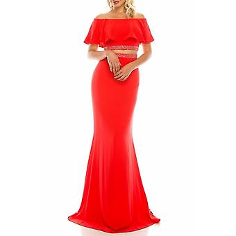 Off-the-shoulder Cape Trumpet Evening Gown