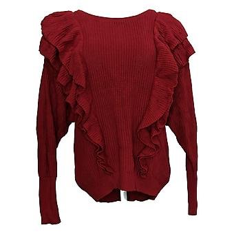 G By Giuliana Women's Sweater Long Sleeve Pullover Red