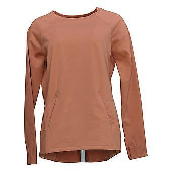Zuda Women's Z-Ultrasoft Long Sleeve Sweatshirt W/ Pockets Pink A371977