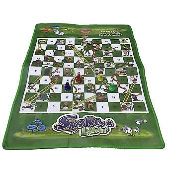 Non-woven Snake Ladder Board Game -portable Fun Board Game