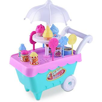 Kid Pretend Play Food - Education Hobby Play Toy (ice Cream Cart)