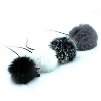 Universal Lavalier Microphone Furry Windscreen Fur Windshield Wind Muff Soft