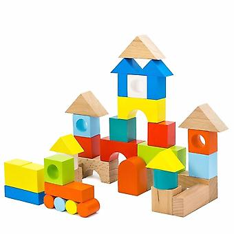 """Alatoys Wooden  constructor """"Town""""half painted"""