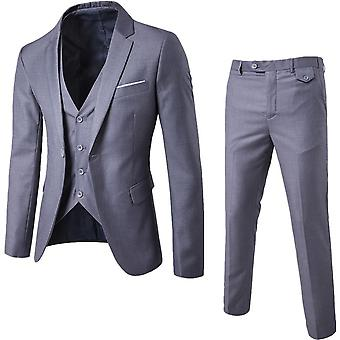 Men's Wear 3-piece Wedding Best Formal Business Suit
