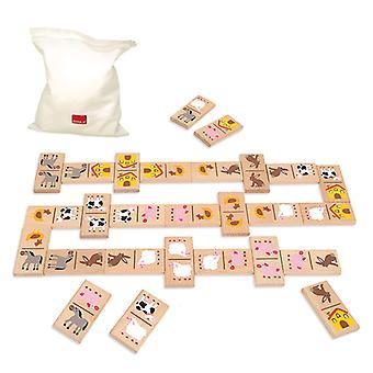 Domino Diset animals Wood (28 pcs)