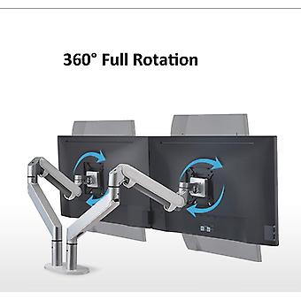 Dual Arm Monitor Mount Desk Stand