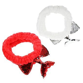 Cauda de peixe de lantejoulas embrulha bandana de maquiagem