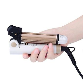 Mini carry-on foldable hair straightener and curling iron