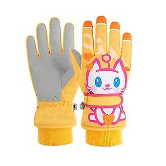 Boys,, Kids Gloves, Outdoor Warm,'s Mittens, Winter, Waterproof, Windproof,