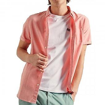Superdry S/S Classic University Oxford Camicia Lavata Arancione 5FN