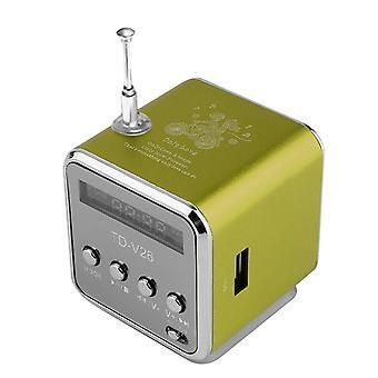 Td-v26 Mini Kannettava Micro Sd Tf -kortti Usb-levymusiikin vahvistin Stereo